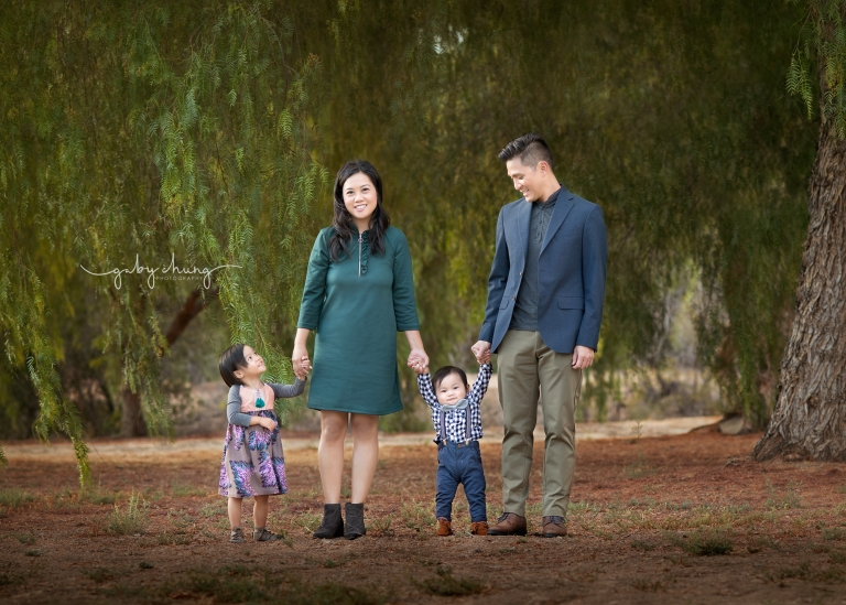 Family photo session outdoor